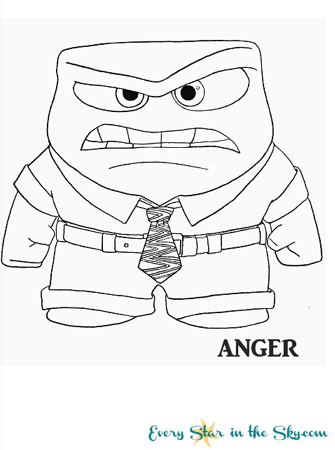 Inside Out Anger coloring page